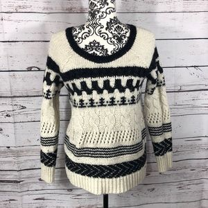 American Eagle Cable Knit Patterned Sweater Small